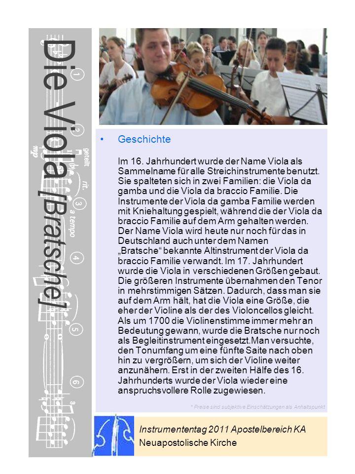 Die Viola [Bratsche]